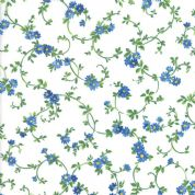 Moda - Summer Breeze 2019 - 7087 - Blue Floral Vine on Off White - 33445 11 - Cotton Fabric